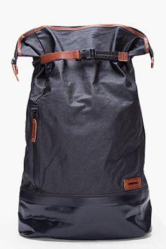 b332c0f7b34 DIESEL Oversize Black Backtuck Backpack Bike Bag