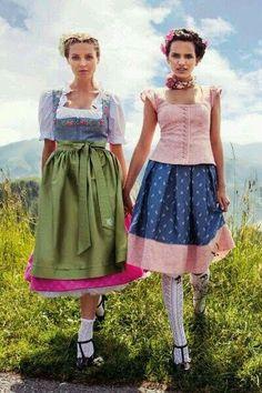 German Girls, Folk Clothing, Dirndl Dress, Traditional Dresses, Harajuku, Beautiful People, Costumes, Cute, Clothes