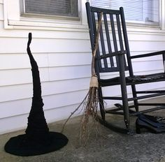 Instructions to make witch hat using a cheap hat as the base.