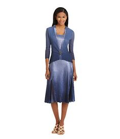 Komarov 2-Piece Brooch-Closure Jacket Dress | Dillard's Mobile
