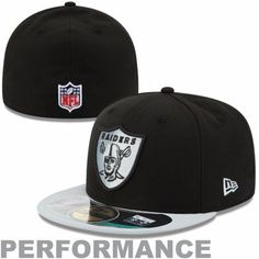 New Era Oakland Raiders Thanksgiving Day 59FIFTY Fitted Performance Hat -  Black Silver 96506428c