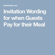 Invitation wording for when guests pay for their meal pinterest invitation wording for when guests pay for their meal pinterest invitation wording retirement parties and birthdays stopboris Images
