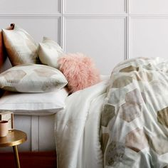 It's hard to choose our favourite part of our Organic Geo Sateen Duvet Cover + Pillowcases: the soft watercolour print or the oh-so-silky 400-thread-count fabric. All we know, it's one of our most luxe bedding options yet.