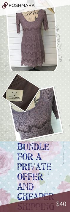 {Urban Outfitters}Dress Stunning, gray, crocheted dress. Amazingly detailed. In like new condition! Brand is Pins and Needles by Urban Outfitters. Urban Outfitters Dresses