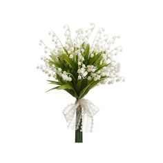 Lily of the Valley Bouquet | Faux Wedding Flowers | Afloral.com ❤ liked on Polyvore featuring home, home decor, floral decor, flowers, spring flower bouquet, artificial flower bouquets, fake flower stems, silk flower bouquets and flower home decor