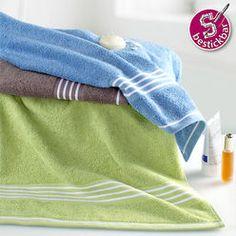"""Handtuch """"Rio"""", farbig mit weißen Streifen"""