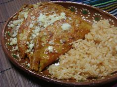 Bean and Cheese Enchiladas. Authentic Mexican food is unbeatable.