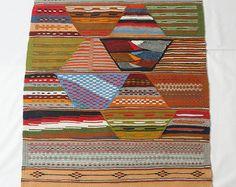 Moroccan Rug, Kilim Rug, Bohemian Rug, Boho Rug, Diamond Rug, Multi-Colored Rug,  Berber Carpet, Wool Rug, Tribal Rug, Kilim, Geometric Rug, Morrocan Rug, French Style, Wool Area Rugs, Zanafi