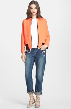 RED Valentino Jacket, Blouse & Jeans  available at #Nordstrom