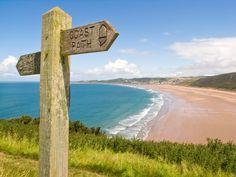The North Devon coast at Woolacombe Woolacombe Bay, Devon Beach, Visit Devon, British Beaches, British Seaside, Devon Holidays, Devon Coast, West Coast, Devon And Cornwall