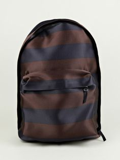 EASTPAK X RAF SIMONS, HORIZONTAL STRIPED BACKPACK: the slight metallic sheen and such great colors.