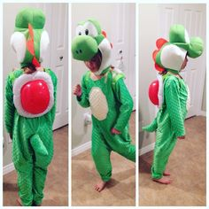 Yoshi Costume for 2015 Halloween.                                                                                                                                                      More