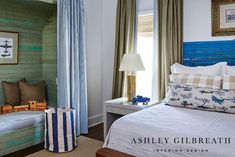 ASHLEY GILBREATH INTERIOR DESIGN: This little boy's bedroom has all the fun detail! We love the reading nook made of salvaged wood that doubles as the perfect spot for a sleepover! Boys Bedroom Curtains, Small Room Bedroom, Cozy Bedroom, Small Rooms, Bedrooms, Kids Rooms, Teen Rooms, Kids Bedroom, Ashley Gilbreath