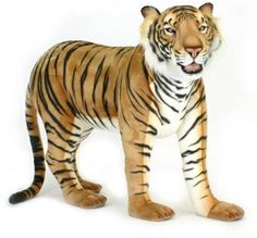 The Hansa Standing Bengal Tiger Plush Stuffed Animal is a realistic reproduction of this beautiful safari animal. This Hansa plush stuffed animal price includes ground shipping. Tiger Stuffed Animal, Large Stuffed Animals, Big Plush, Giant Plush, Tiger Love, Unique Toys, Animal Facts, Bengal Tiger, Tiger Tiger