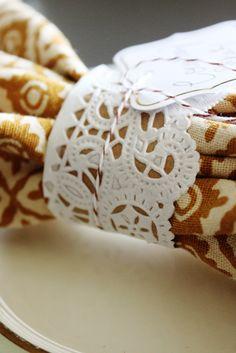 doily napkin rings