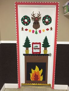 41 cute Christmas door decoration ideas for your holiday inspiration; decoration of the Christmas Office … Christmas Door Decorating Contest, School Door Decorations, Office Christmas Decorations, Preschool Christmas, Christmas Fun, Christmas Projects, Beautiful Christmas, Christmas Bulletin Boards, December Bulletin Boards