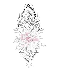 Tattoo Outline Drawing, Rose Drawing Tattoo, Outline Drawings, Tattoo Drawings, Dot Tattoos, Flower Tattoos, Tattoo Sleeve Designs, Sleeve Tattoos, Mandala Tattoos For Women