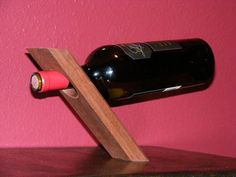 Self balancing wine bottle holders - Cool!