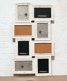 Another great find on #zulily! Cork & Chalkboard Frame Collage Message Board #zulilyfinds