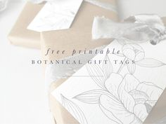 In the hope that I can add a little something special to your gift giving,  I've created free printable gift tags especially for you. They have been  created from my original botanical illustrations in two designs. Both come  as a set of three with 2 of each on a sheet. Scroll down to find the