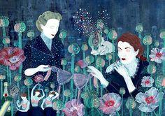 La #InspiraciónBI de hoy con #Ilustración y pintura emotiva por Natalia Bzdak Leer más: http://www.colectivobicicleta.com/2016/09/ilustracion-natalia-bzdak.html