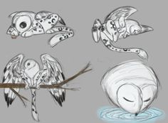 """Owl Griffin Exploration"" digital 15""X11"" Cute Creatures, Magical Creatures, Cute Animal Drawings, Art Drawings, Dragons, Character Art, Character Design, Owl Cat, Creature Drawings"