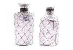 Decorative mercury bottles - set of 2