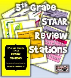 5TH GRADE SCIENCE REVIEW STATIONS (STAAR AND COMMON CORE) - TeachersPayTeachers.com