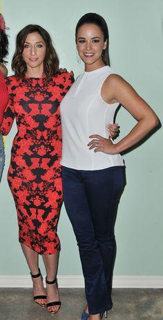 CHELSEA PERETTI and MELISSA FUMERO at Brooklyn Nine-Nine Panel in Los Angeles