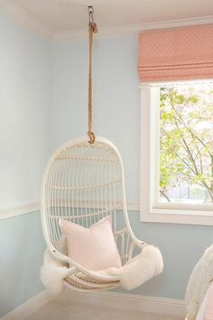 White Hanging Chair for Bedroom. White Hanging Chair for Bedroom. Charming White Viva Design Cora Hanging Chair Design with Bedroom Chair, Bedroom Decor, Bedroom Swing, Bedroom Ideas, Girl Room, Girls Bedroom, Swinging Chair, My New Room, Living Room Chairs