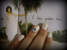 My palm tree nails at the Alexa Chung for Madewell launch party in SF