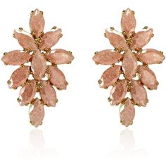 Cielle London - Spring Snow Flowers Earrings Pink ($95) ❤ liked on Polyvore featuring jewelry, earrings, orecchini, flower jewelry, blossom jewelry, geometric jewelry, pink stud earrings and pink flower earrings