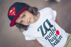 Za Matki Hajs Balon (biała, 7-8 lat) - fishkawear - Koszulki dla dzieci
