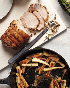 Pork Roast with Caramelized Parsnips, Recipe from Martha Stewart Living, September 2011