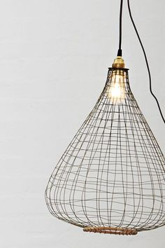 Wire & Bamboo Lamp Shade cottage-dinning rm?