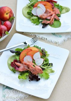 Smoked Trout Salad with Avocado Dresing - ASpicyPerspective.com Avocado Dressing, Avocado Salad, Healthy Salads, Healthy Eating, Healthy Recipes, Yummy Recipes, Healthy Food, Trout Recipes, Seafood Recipes