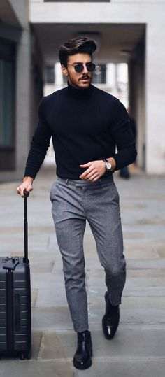 Business Casual Men - 24 Business casual outfits for you! Business Casual Men, Business Outfits, Men Casual, Men's Business Fashion, Casual Menswear, Business Style, Winter Essentials For Men, Mens Dress Pants, Mens Fashion Pants