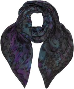 Blue Tibesti Feather Print Silk Scarfat Liberty.co.uk