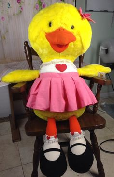 Suzy Ducken Huge Plush Doll Stuffed Animal 3' Suzys Zoo Duck Giant Large Vtg Toy | eBay