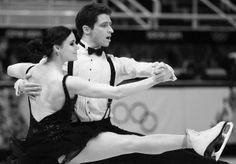 Tessa Virtue and Scott Moir of Canada compete in the Figure Skating Team Ice Dance - Short Dance , Sochi 2014