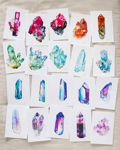 "Hi friends! I've just discovered I'm only 100 followers away from 20k! I can't believe it. In honor of this silly milestone I'm going to try my hand at a giveaway! Rules are simple. Tag a friend (one friend only) in the comments that's a fellow crystal/watercolor lover, tell me what your favorite type of crystal is and why. When I hit 20k (maybe I should say ""IF"" I hit 20k) I'll pick a random winner from the comments section and the friend they tagged to each with this set of prints. ..."