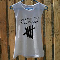 I Prefer The Bass Player Tshirt Calum Hood Tank Top T shirt S M L XL on Etsy, $15.00
