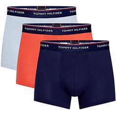 Tommy Hilfiger Mens Boxer Shorts Pack of 3 Boxer Briefs, Boxers, Tommy Hilfiger, Lazy, Toms, Onesies, Underwear, Mens Fashion, Shorts