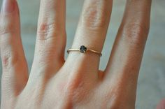Rough cut black diamond