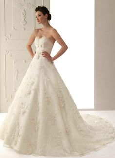 Fascinating Ivory Ball Gown Scalloped-Edge Neckline Wedding Dress,$296.99