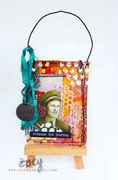 Zoey made this fun, colorful hanging deco for the Simon Says Stamp Monday Challenge blog.