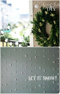 Cotton Ball Snow - 20 Magical DIY Christmas Home Decorations You'll Want Right Now