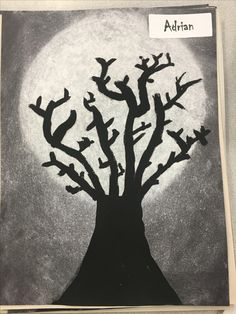 Halloween chalk and oil paint project