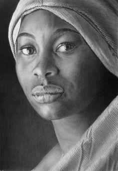 Pencil portrait of Aminanta by LateStarter63.deviantart.com on @DeviantArt