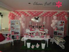 Festa minie cor de rosa
